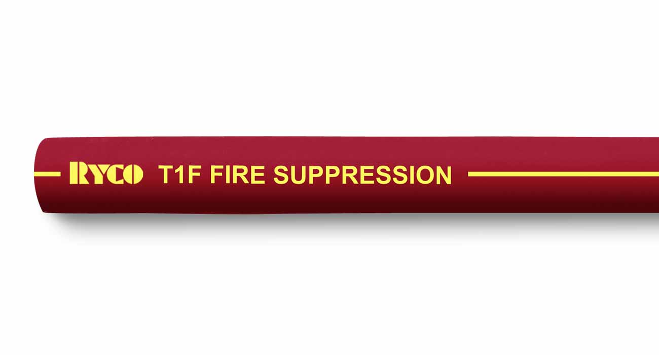 T1F RYCO Fire Suppression One Wire Braid Hydraulic Hose