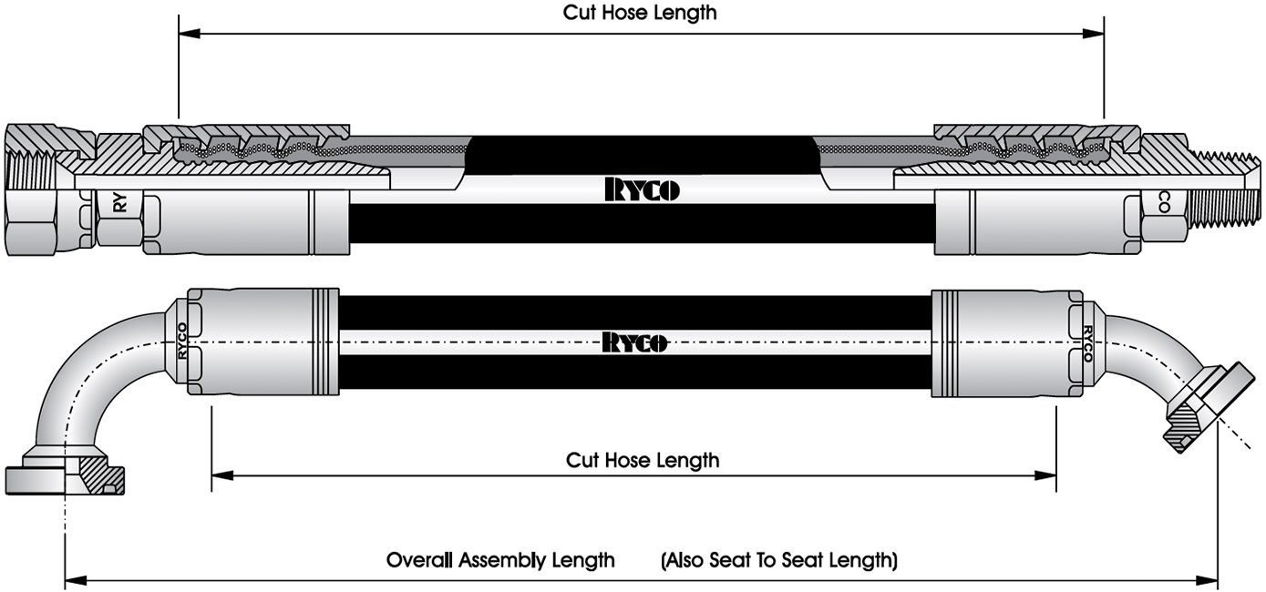 How to Order Hydraulic Hose Assemblies - Seat To Seat Length