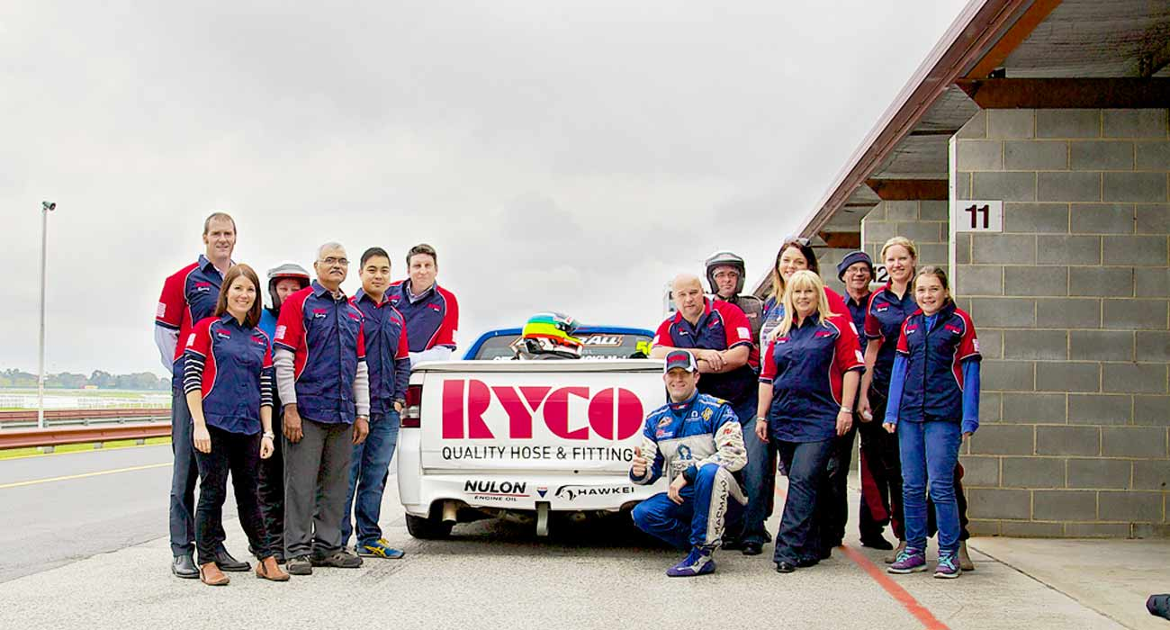 RYCO Melbourne staff and customers treated to 'Hot Laps' in the Macmahon V8 Racing Ute