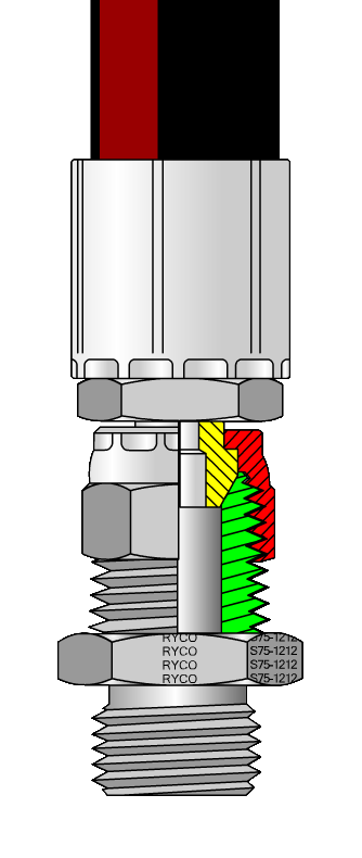 Metal Seal Hydraulic Connector Diagram