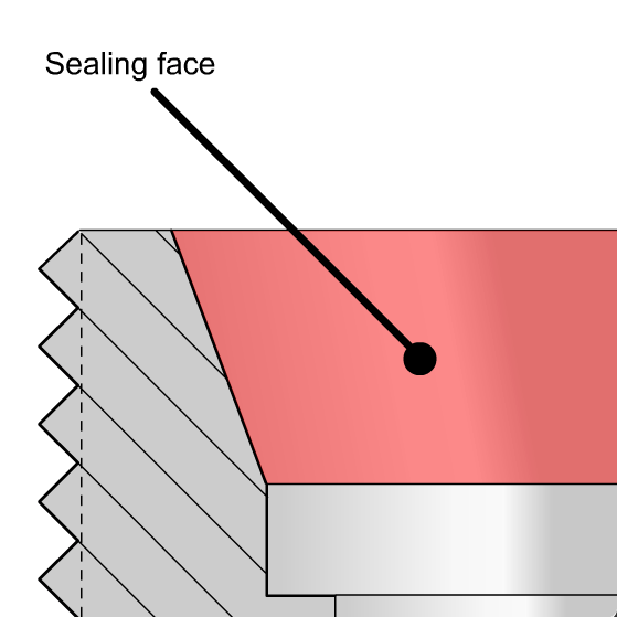 Metric Din Sealing Face