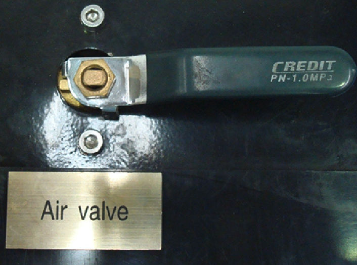 RYCO Proof Test Rig - Air Valve