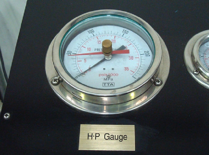 RYCO Proof Test Rig - High Pressure Gauge